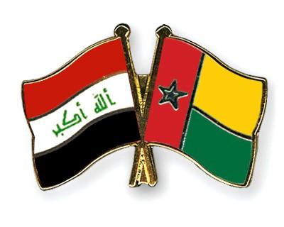 Crossed Flag Pins Iraq-Guinea-Bissau