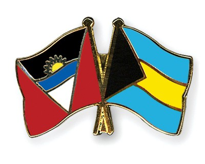 Crossed Flag Pins Antigua-and-Barbuda-Bahamas
