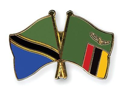 Crossed Flag Pins Tanzania-Zambia