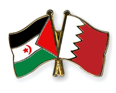 Crossed Flag Pins Western-Sahara-Bahrain