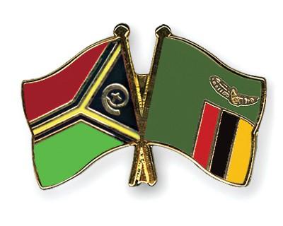Crossed Flag Pins Vanuatu-Zambia