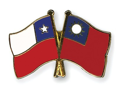 Crossed Flag Pins Chile-Taiwan