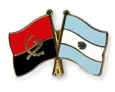 Crossed Flag Pins Angola-Argentina