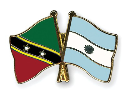 Crossed Flag Pins Saint-Kitts-and-Nevis-Argentina