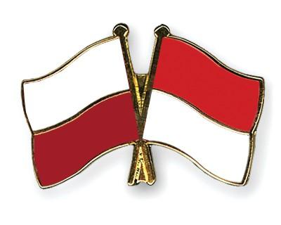 Crossed Flag Pins Poland-Indonesia