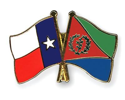 Crossed Flag Pins Texas-Eritrea