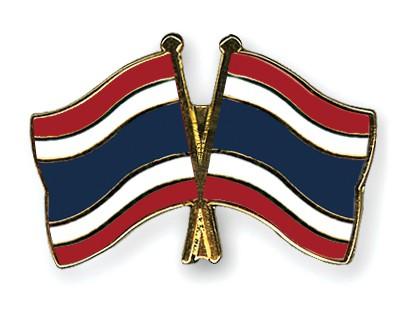 Crossed Flag Pins Thailand-Thailand