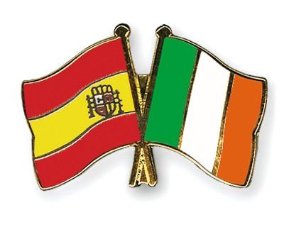 Crossed Flag Pins Spain-Ireland
