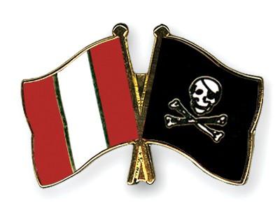 Crossed Flag Pins Peru-Pirate-with-Bone