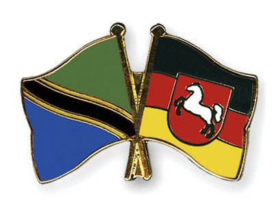 Special Offer Crossed Flag Pins Tanzania-Lower Saxony