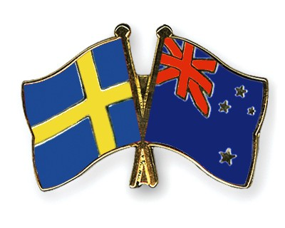 Special Offer Crossed Flag Pins Sweden-New-Zealand