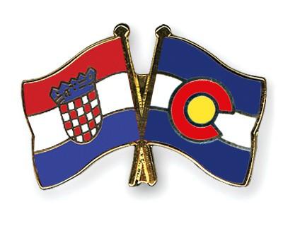 Crossed Flag Pins Croatia-Colorado