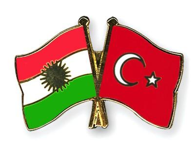 Crossed Flag Pins Kurdistan-Turkey