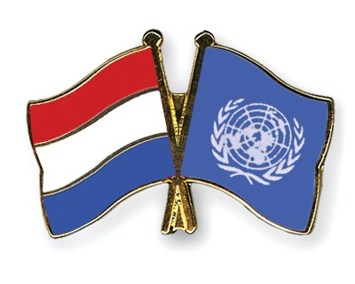 Crossed Flag Pins Netherlands-UNO