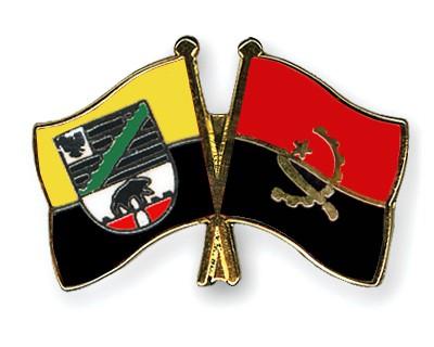 Crossed Flag Pins Saxony-Anhalt-Angola