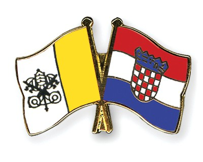 Special Offer Crossed Flag Pins Vatican-City-Croatia