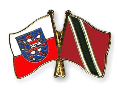 Crossed Flag Pins Thuringia-Trinidad-and-Tobago