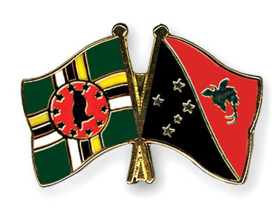 Crossed Flag Pins Dominica-Papua-New-Guinea