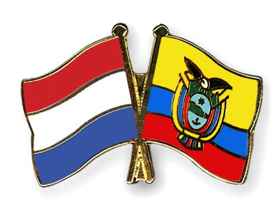 Crossed Flag Pins Netherlands-Ecuador