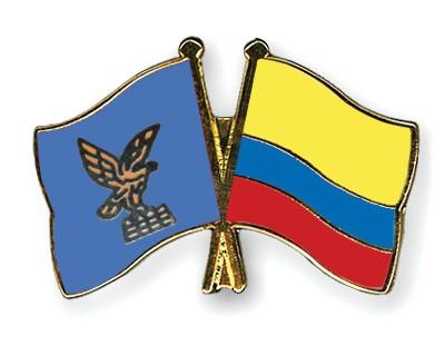 Crossed Flag Pins Friuli-Venezia-Giulia-Colombia