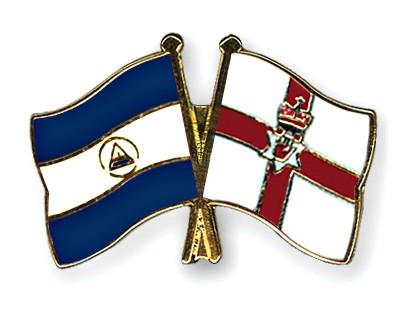 Crossed Flag Pins Nicaragua-Northern-Ireland