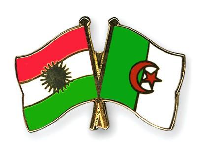 Crossed Flag Pins Kurdistan-Algeria