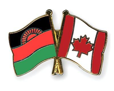 Crossed Flag Pins Malawi-Canada