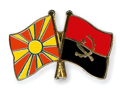 Crossed Flag Pins Macedonia-Angola