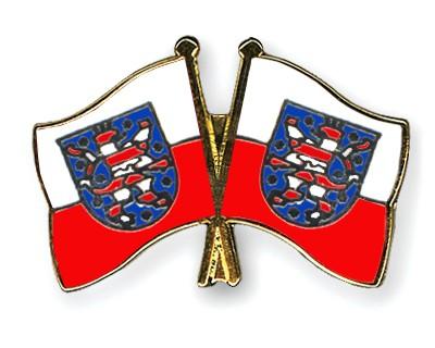Crossed Flag Pins Thuringia-Thuringia