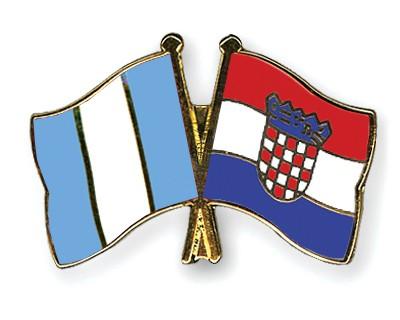 Crossed Flag Pins Guatemala-Croatia