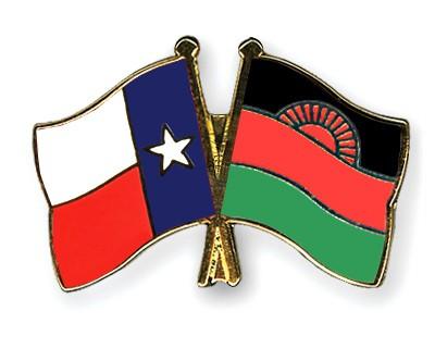 Crossed Flag Pins Texas-Malawi