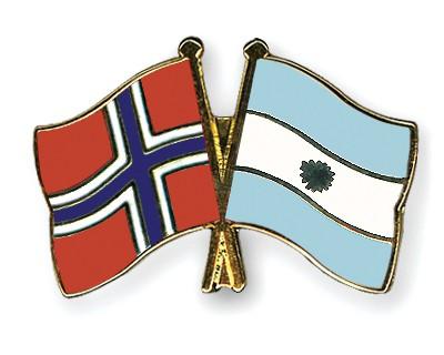 Crossed Flag Pins Norway-Argentina