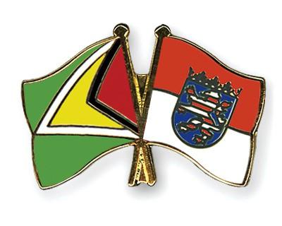 Crossed Flag Pins Guyana-Hesse