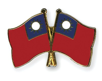 Crossed Flag Pins Taiwan-Taiwan