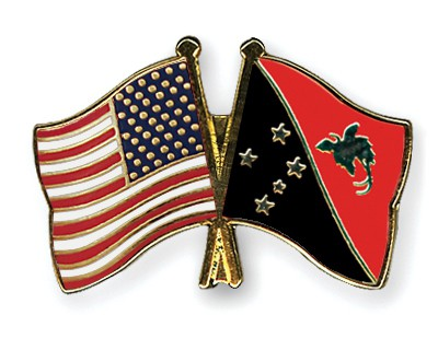 Crossed Flag Pins USA-Papua-New-Guinea