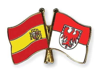 Crossed Flag Pins Spain-Brandenburg