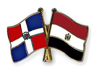 Crossed Flag Pins Dominican-Republic-Egypt