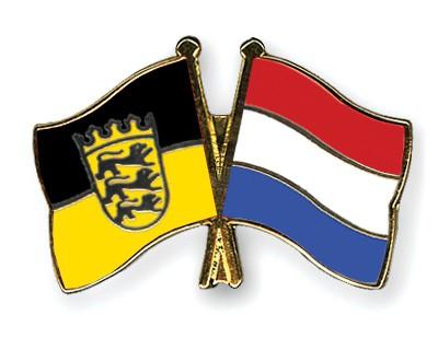 Special Offer Crossed Flag Pins Baden-Wuerttemberg-Netherlands
