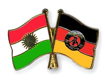 Crossed Flag Pins Kurdistan-GDR