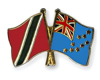 Crossed Flag Pins Trinidad-and-Tobago-Tuvalu