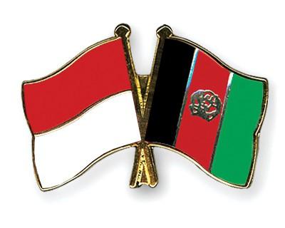 Crossed Flag Pins Indonesia-Afghanistan