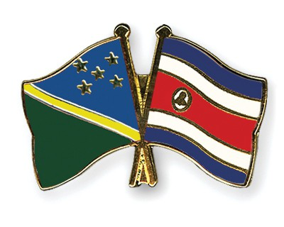 Crossed Flag Pins Solomon-Islands-Costa-Rica