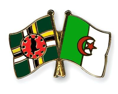 Crossed Flag Pins Dominica-Algeria