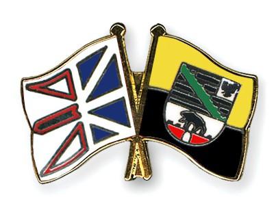 Crossed Flag Pins Newfoundland-and-Labrador-Saxony-Anhalt