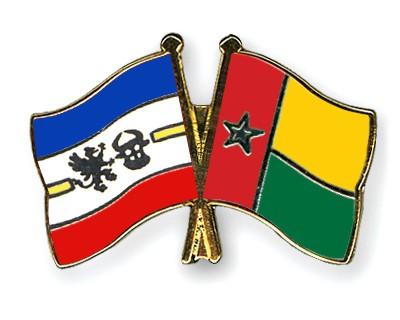 Crossed Flag Pins Mecklenburg-Western-Pomerania-Guinea-Bissau