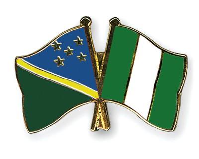 Crossed Flag Pins Solomon-Islands-Nigeria