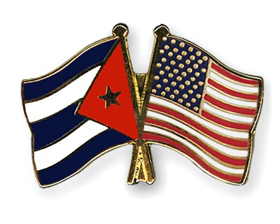 Special Offer Crossed Flag Pins Cuba-USA