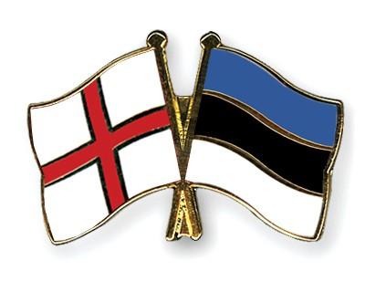 Crossed Flag Pins England-Estonia