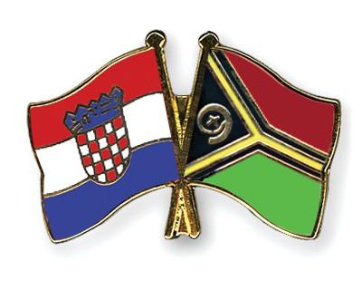 Crossed Flag Pins Croatia-Vanuatu