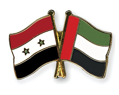 Crossed Flag Pins Syria-United-Arab-Emirates